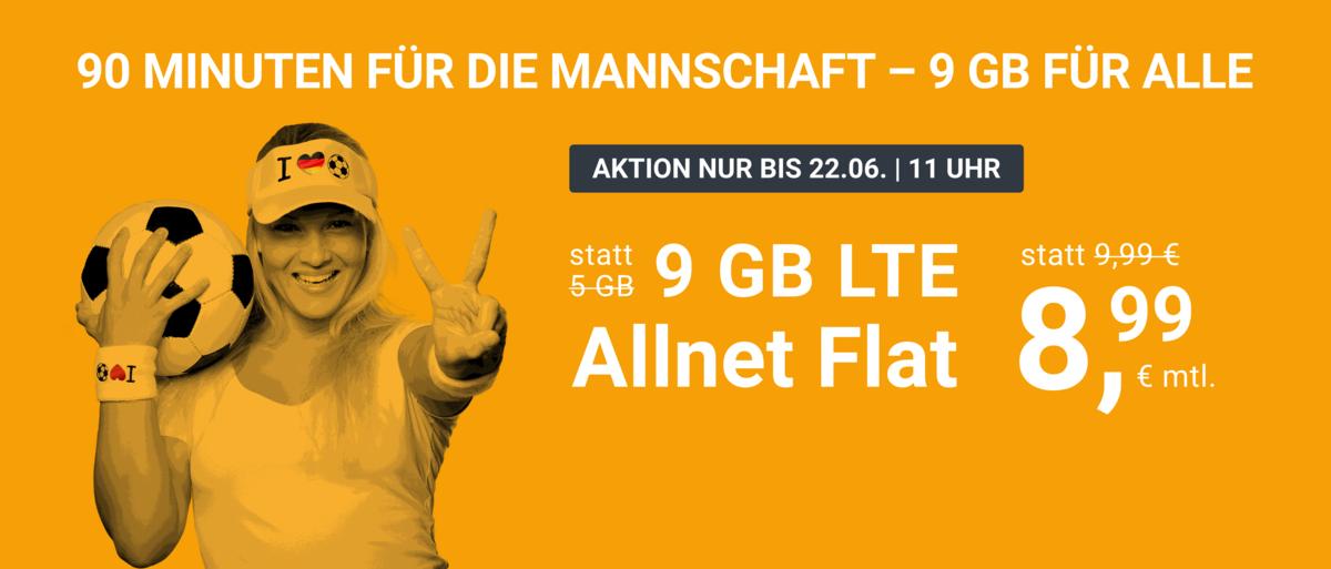 90 MINUTEN FÜR DIE MANNSCHAFT - 9 GB FÜR ALLE