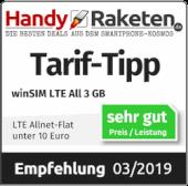 Empfehlung LTE All 3 GB - handyraketen.de