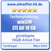 allnetflat-24.de - günstigste 10 GB Allnet Flat