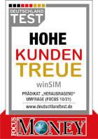 """Prädikat """"Herausragend"""" für hohe Kundentreue - www.deutschlandtest.de"""