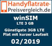 Handyflatrate-preisvergleich.de - winSIM Günstigste 3GB LTE