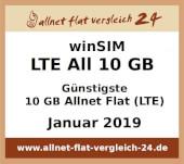winSIM LTE All 10 GB  - Günstigste 10 GB Allnet Flat