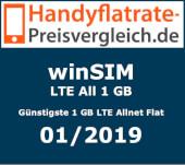 Handyflatrate-Preisvergleich.de -  Günstigste 1 GB LTE Allnet Flat